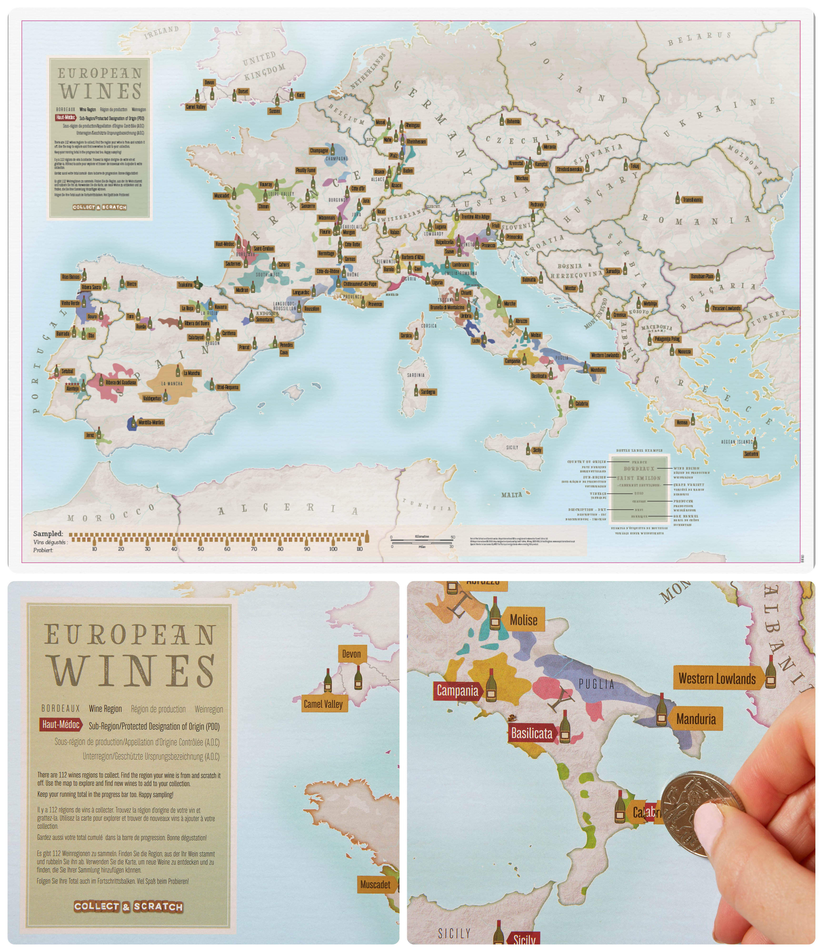 Europe Wines Collect & Scratch