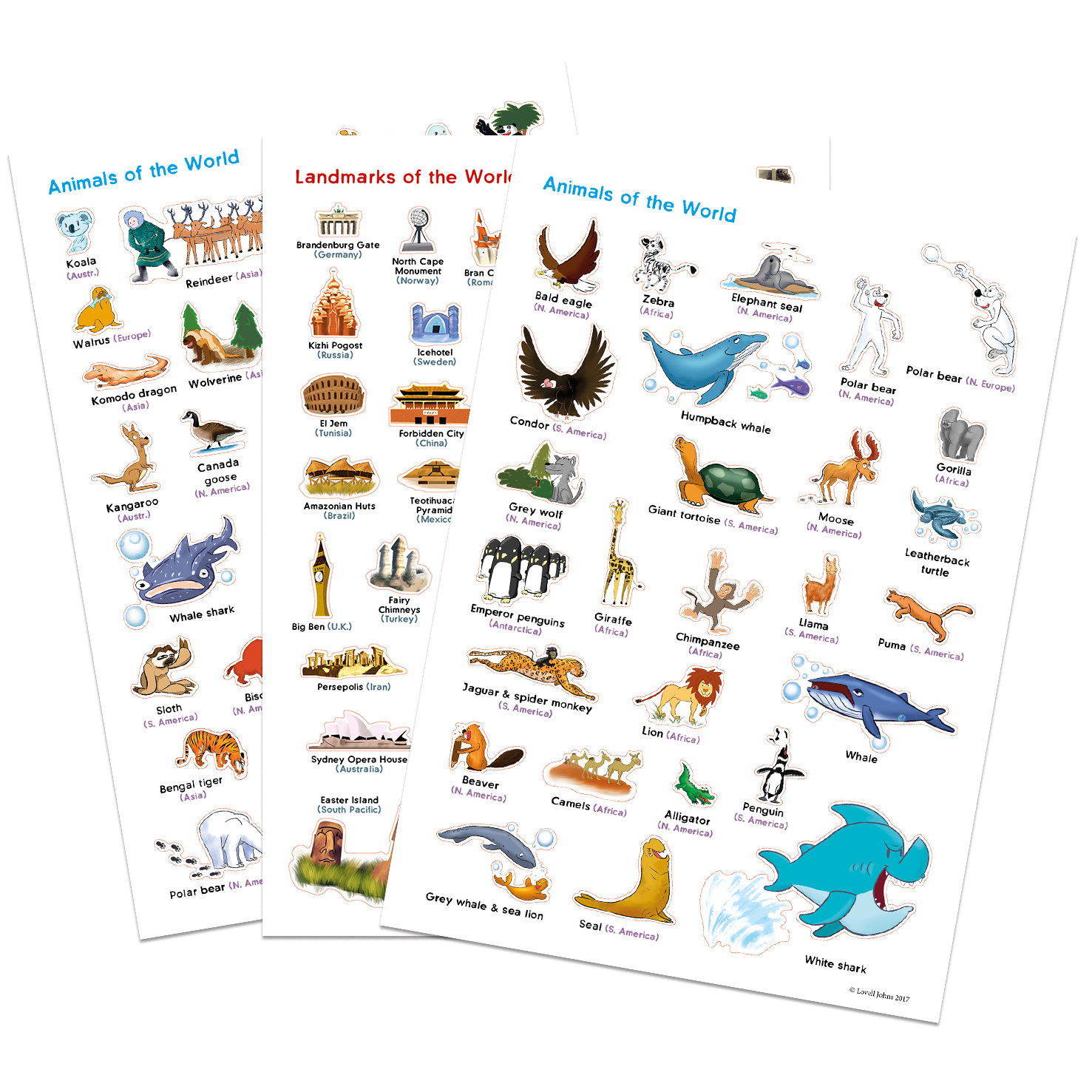 World Illustrated Stickers